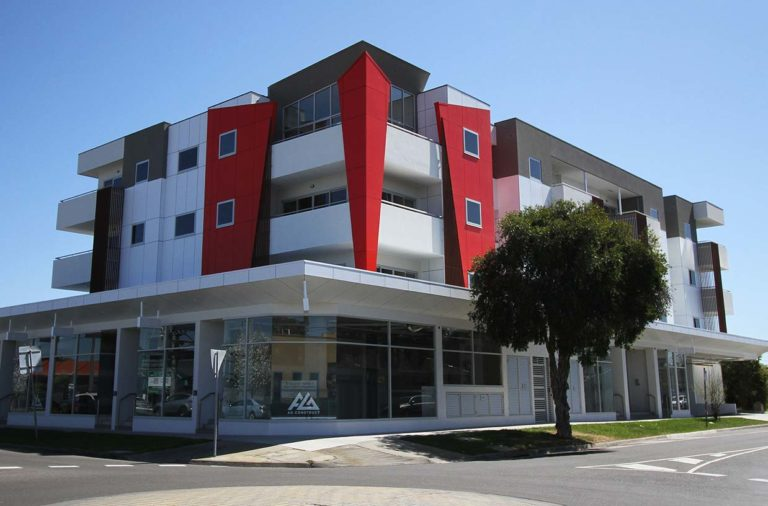 Full completion of 4 level mixed use development in Springvale