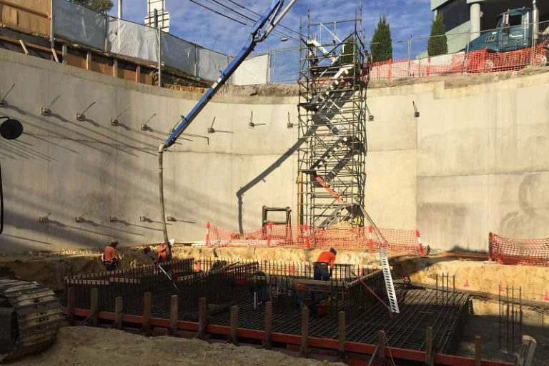 Double basement construction at Burke Rd is progressing well