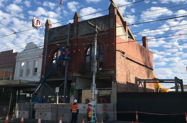 Heritage facade retained at Elsternwick project