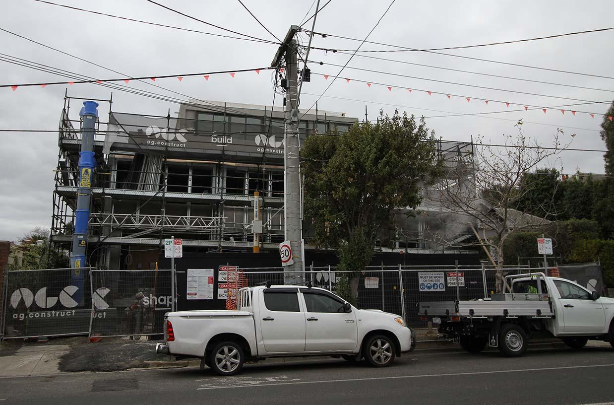 Lockup nearing completion at Church St, Brighton