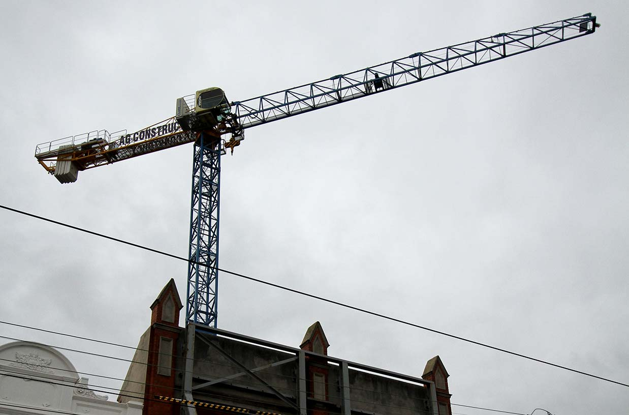 Tower Crane Installation at Elsternwick