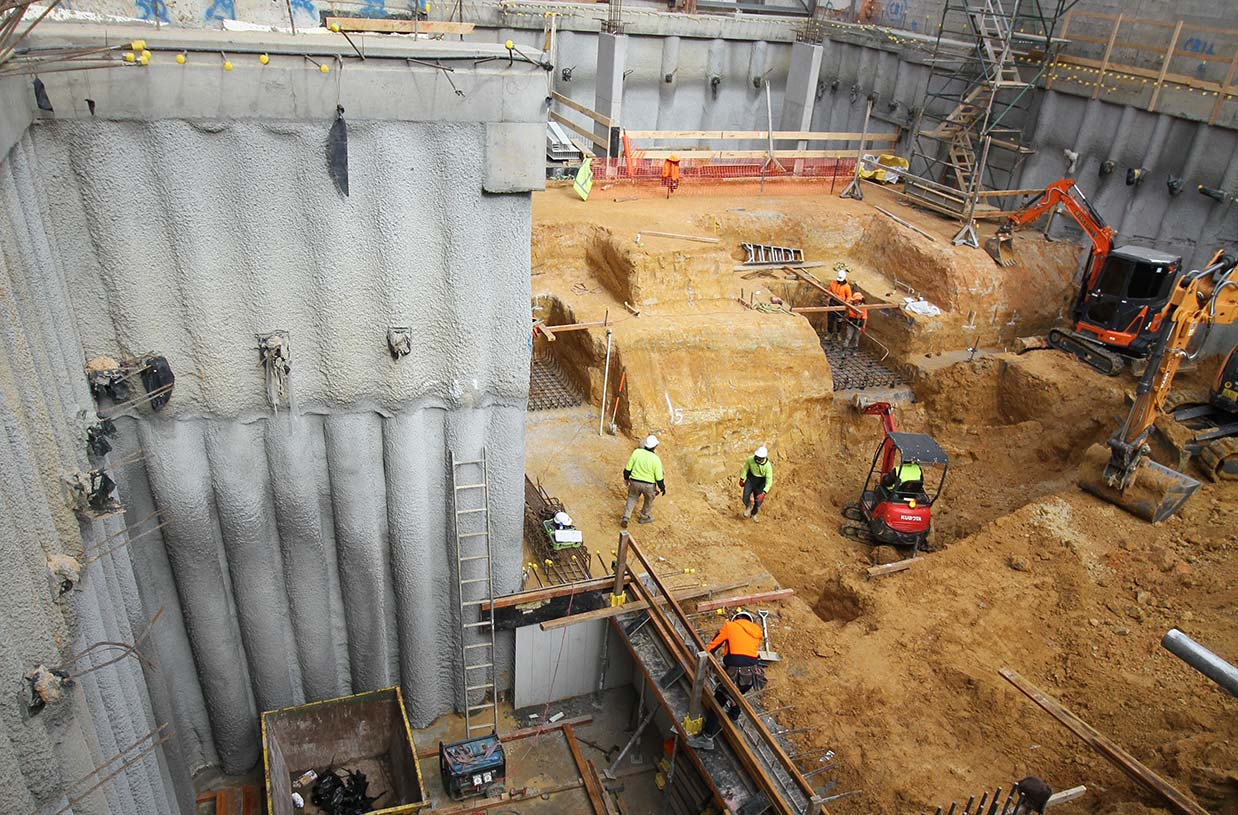 AG team has reached the bottom of the double basement at Elsternwick